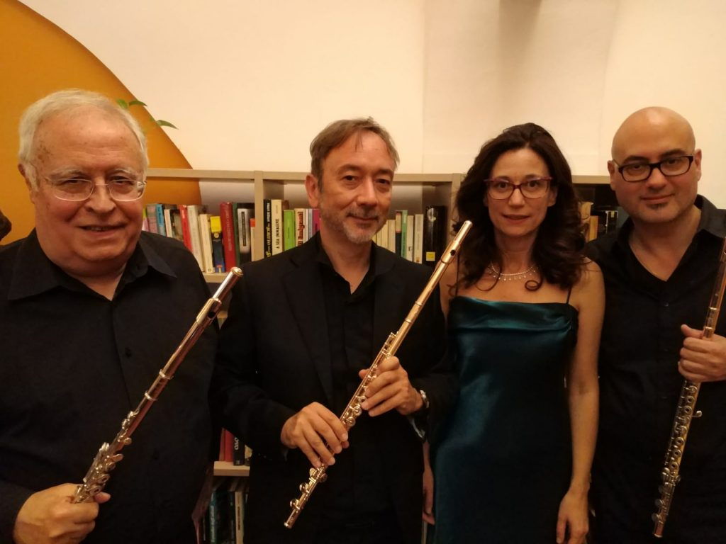 With Giorgio Blasco, Giorgio Di Giorgi and Sara Radin